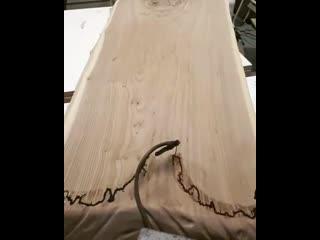 Идея создания рисунка на дереве - Заметки строителя