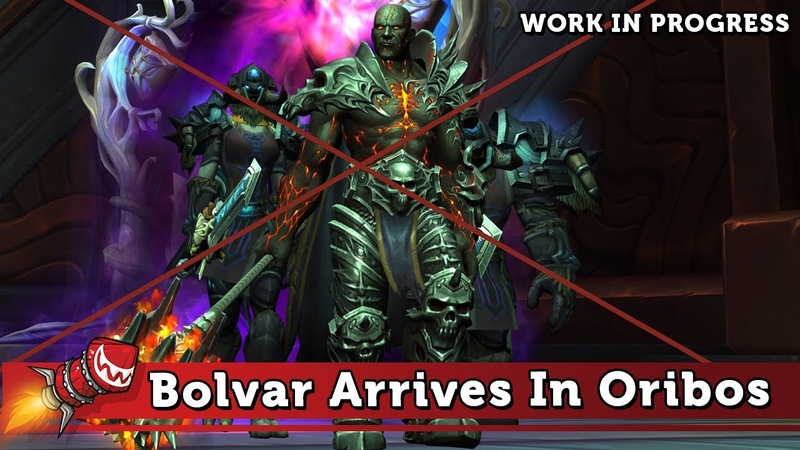 Bolvar Arrives In Oribos Cutscene - Work In Progress