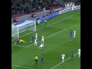 Все голы Месси в 1/8 финала Лиги чемпионов