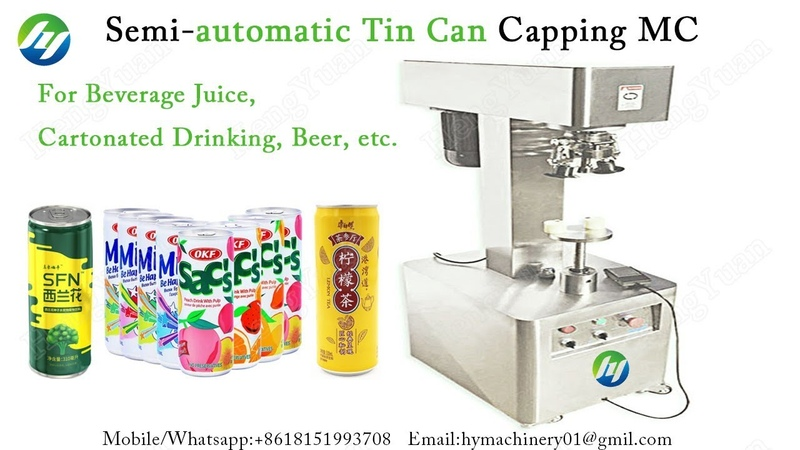 Beverage Drinking Container Sealing Machine Semi automatic Tin Can Sealer