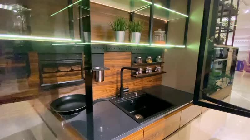 Кухня с скрытой рабочей зоной Verlion