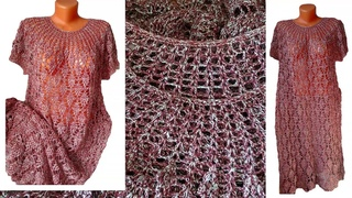 Платье Flash крючком из хлопка и вискозы