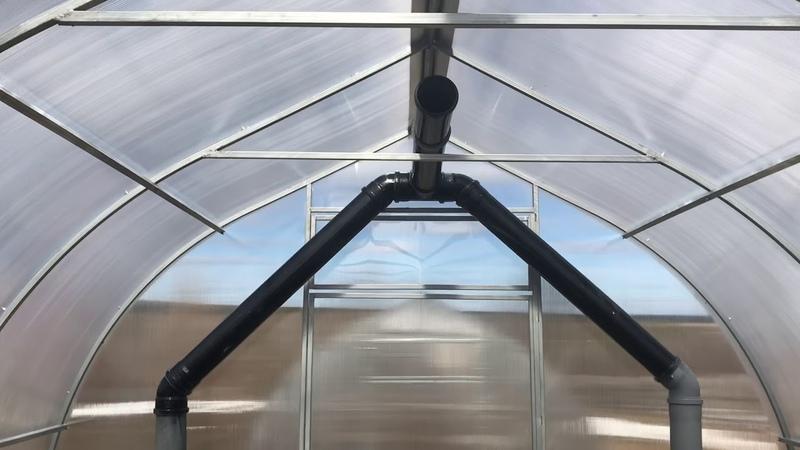 Подогрев земли в теплице перегретым воздухом из под купола Поселок Висим