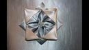 Оригами origami из ткани цветок Чертополох