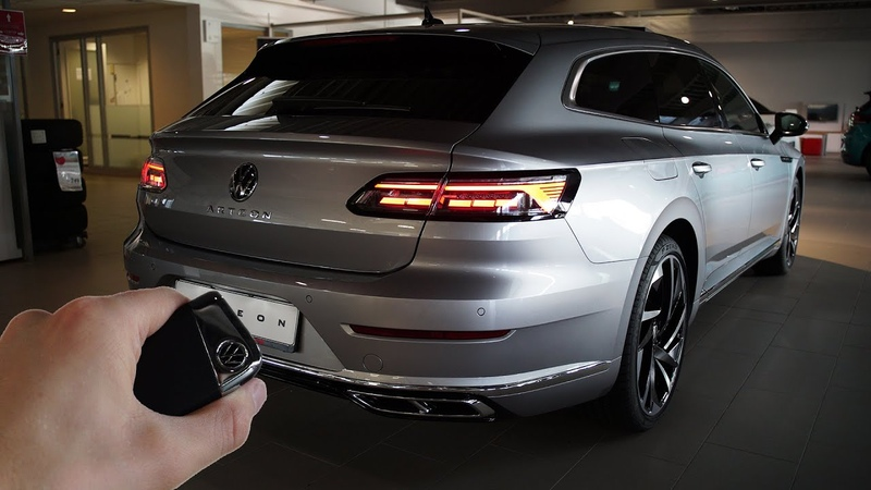 2021 VW Arteon Shooting Brake R Line 190hp Sound Visual Review