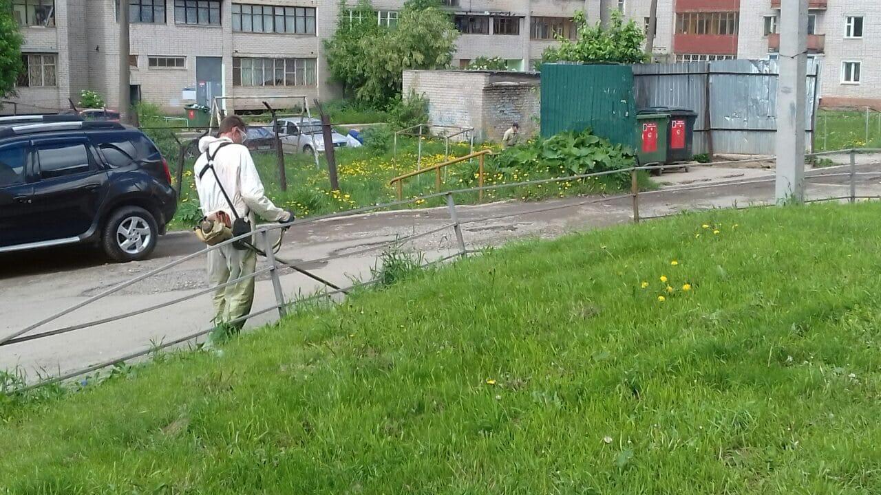 Проспект Строителей 9 корпус 1. Покос