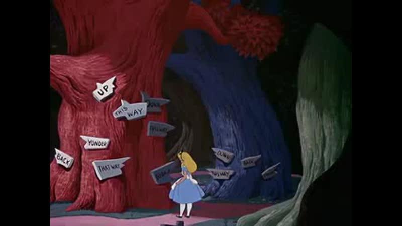 Отрывок из мультфильма Алиса в стране чудес 240p mp4