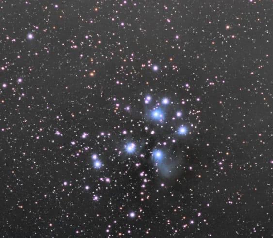В Самаре сфотографировали звездное скопление Плеяд...