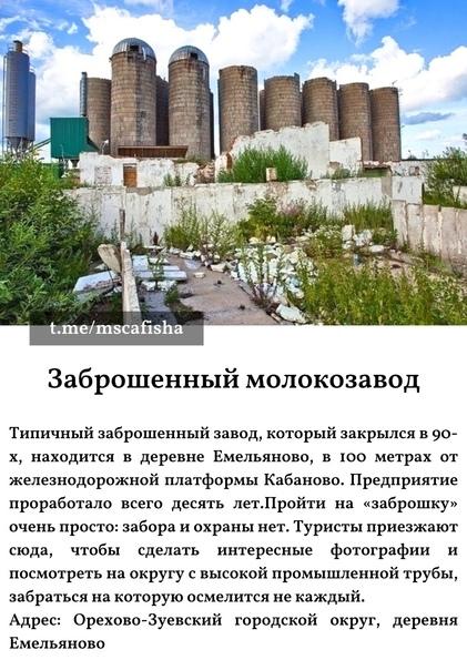 ТОП-10 заброшенных мест Подмосковья с координатами:...