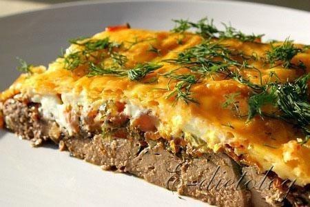Куриная печень рецепт с овощами и сыром