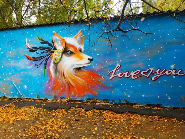 Новый яркий осенний арт на улице Малиновского 🦊...