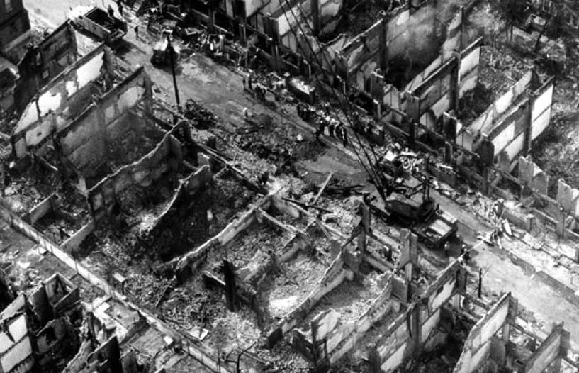 Как полиция США сбросила бомбу на своих граждан и сожгла 60 жилых домов