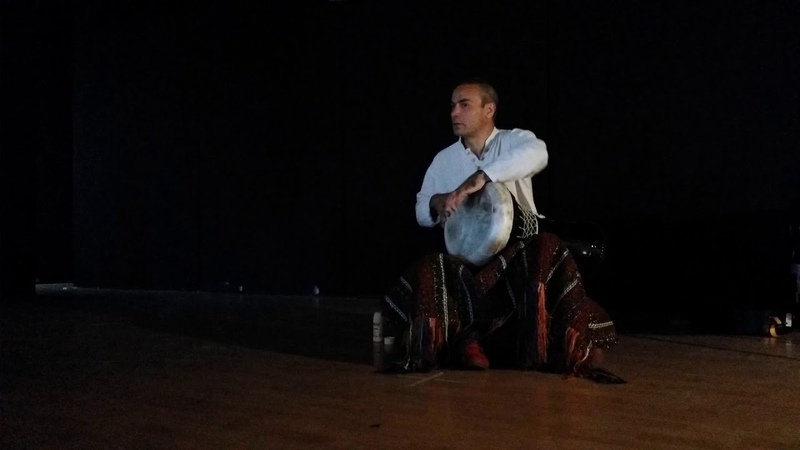 Levent Yildirim during a darbuka course