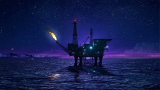 ❄ Arctic Ocean White Noise Ambience With Oil Platform Creating Relaxing Delta Waves To Assist Sleep