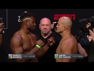 Взвешивание UFC Миннеаполис: Джуниор Дос Сантос vs Френсис Нганну