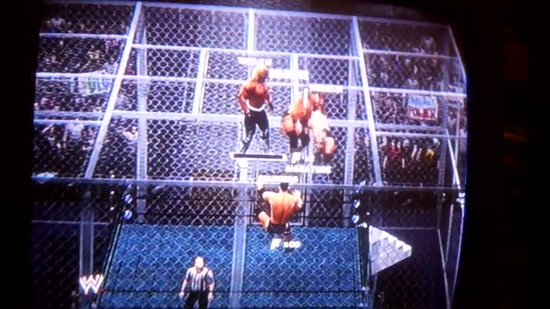 WWE 13 Hell in a Cell Hulk Hogan NWO and Goldberg vs The Rock and Triple H Халк Хоган и Голдберг 11DeadFace