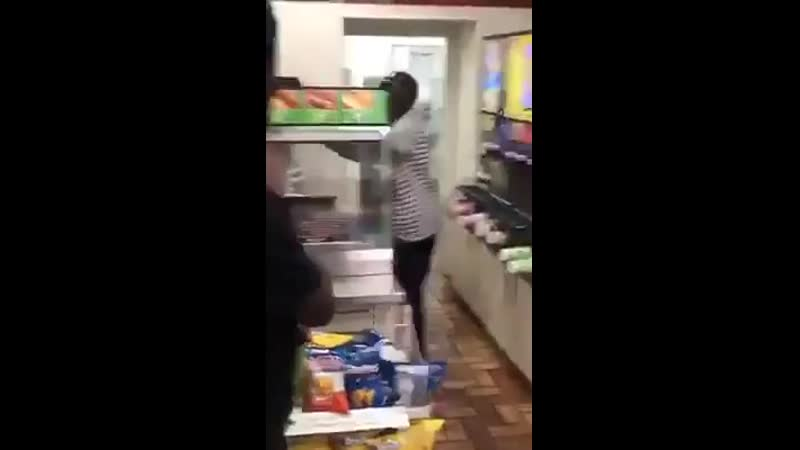 Black Couple Savagely Beating White Woman