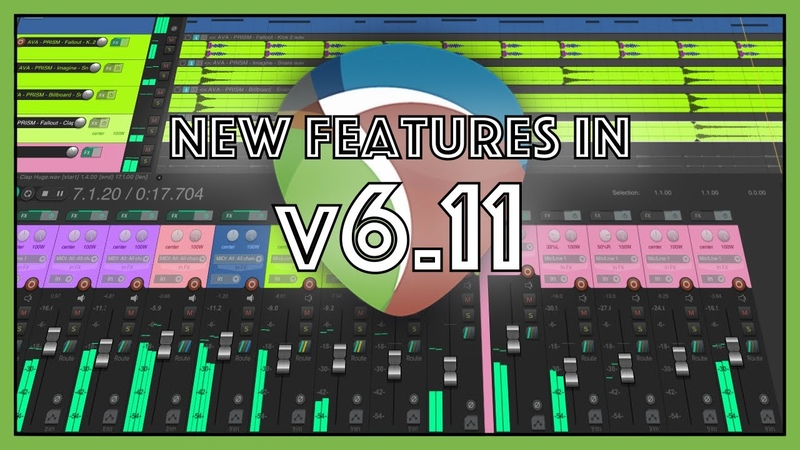 What's New in REAPER 6 11 update mixer scroll fix more metadata functions global color adjust