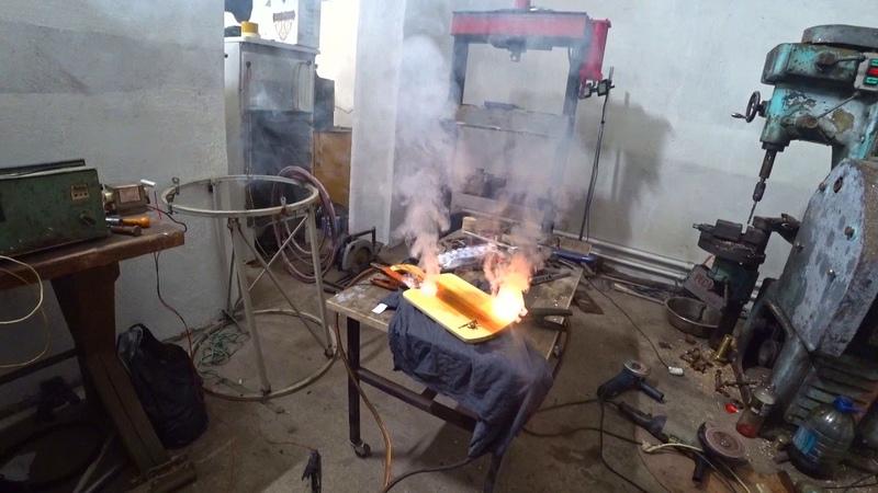 Коротенькое видео с гаража Наши небольшие эксперименты