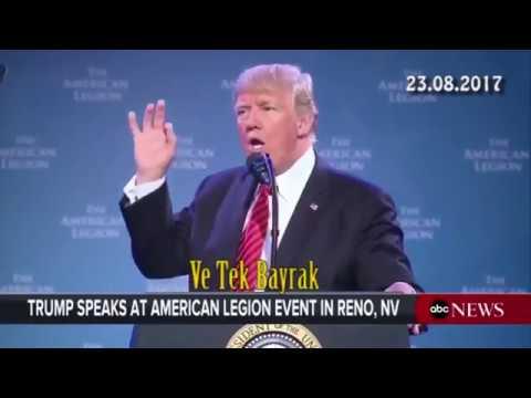 Trump da tek millet, tek vatan, tek bayrak söylemini kullandı