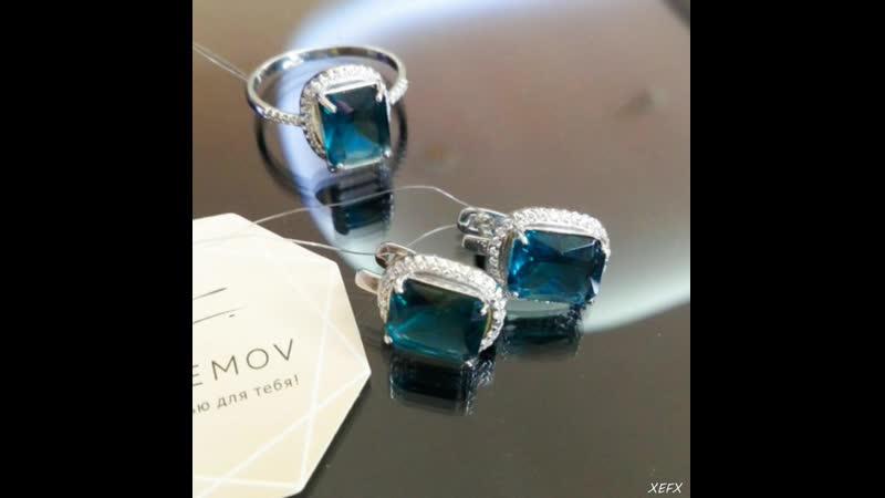 ювелирные кристаллы в серебре 925