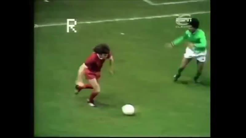 Кубок Чемпионов 1976 77 1 4 финала Ливерпуль 3 1 Сент Этьен Кевин Киган открывает счет уже на 2 й минуте матча