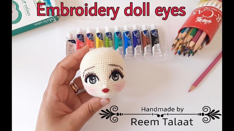 تطريز عيون دمية اميجرومى Embroidery doll eyes amigurumi ده رابط صفح 1578