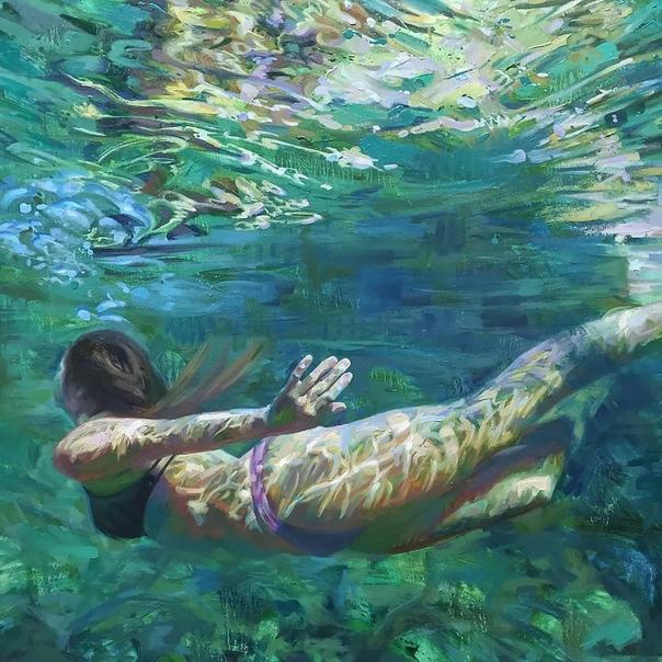 Девушки в воде: картины калифорнийской художницы Изабель Эмрих