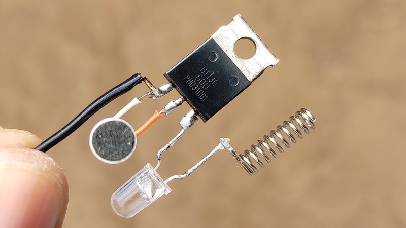 Top 5 Elctronic Project with Bc547 Transistor Tri AC RGB LED Photo Diode