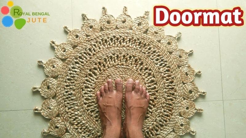 DIY Jute Door Mat Handmade|| Make at home it's easy|| Jute DIY,Rug