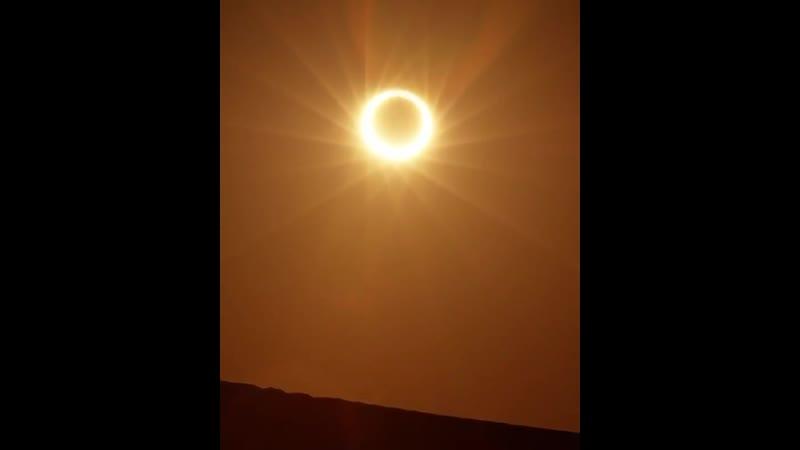 Редкое кольцевое солнечное затмение