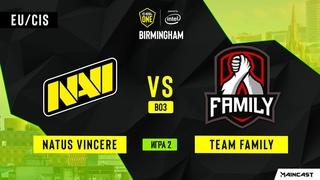 Natus Vincere vs Team Family - Game 2, Group A - ESL One Birmingham 2020 - Online Championship