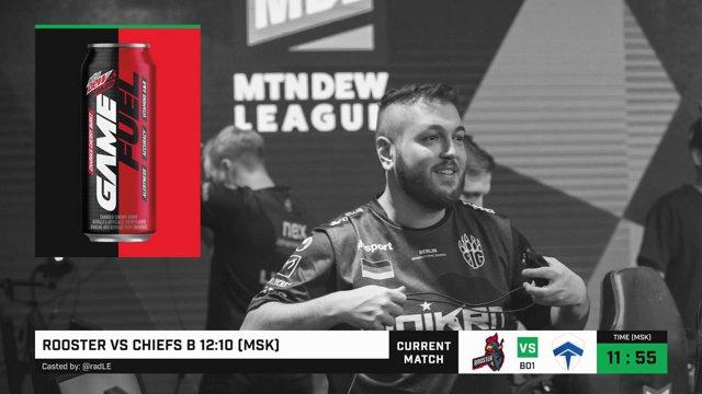 Live Mountain Dew League | Rooster vs Chiefs | Season 12 AU (RU) | by @radLE