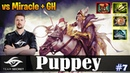 Puppey - Keeper of the Light Safelane vs Miracle Riki GH Grims Dota 2 Pro MMR Gameplay 7