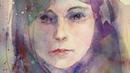 水彩画・女性をつぶやきながら描く・モデルなし・Watercolor portrait painting tutorial. English subtitles 村 3000