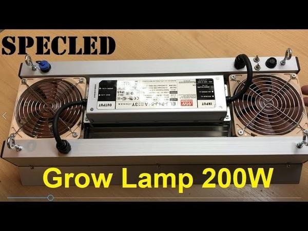 Фитолампа 200Вт для гроубокса G Ray модуль Cree Samsung LM561C