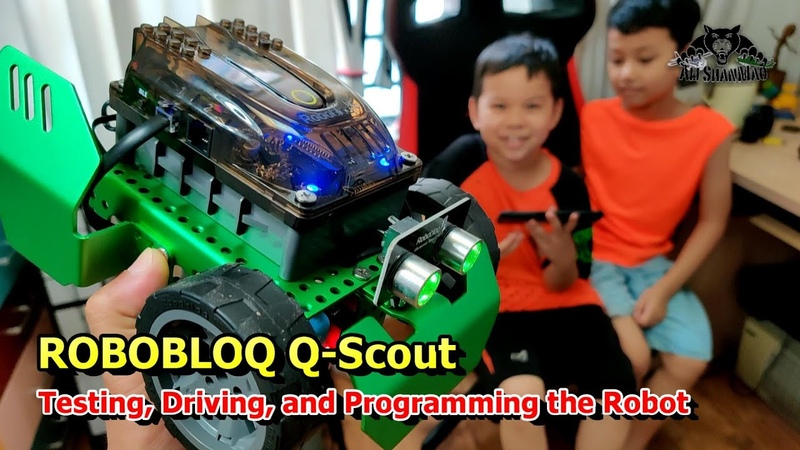 Lets Play Robobloq Q Scout DIY Programmable Robot