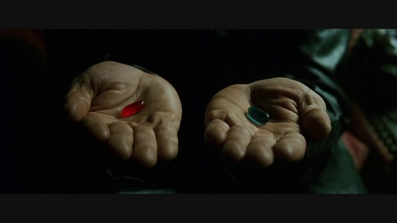 The Matrix Red Pill or Blue Pill Neo Meets Morpheus Scene HD